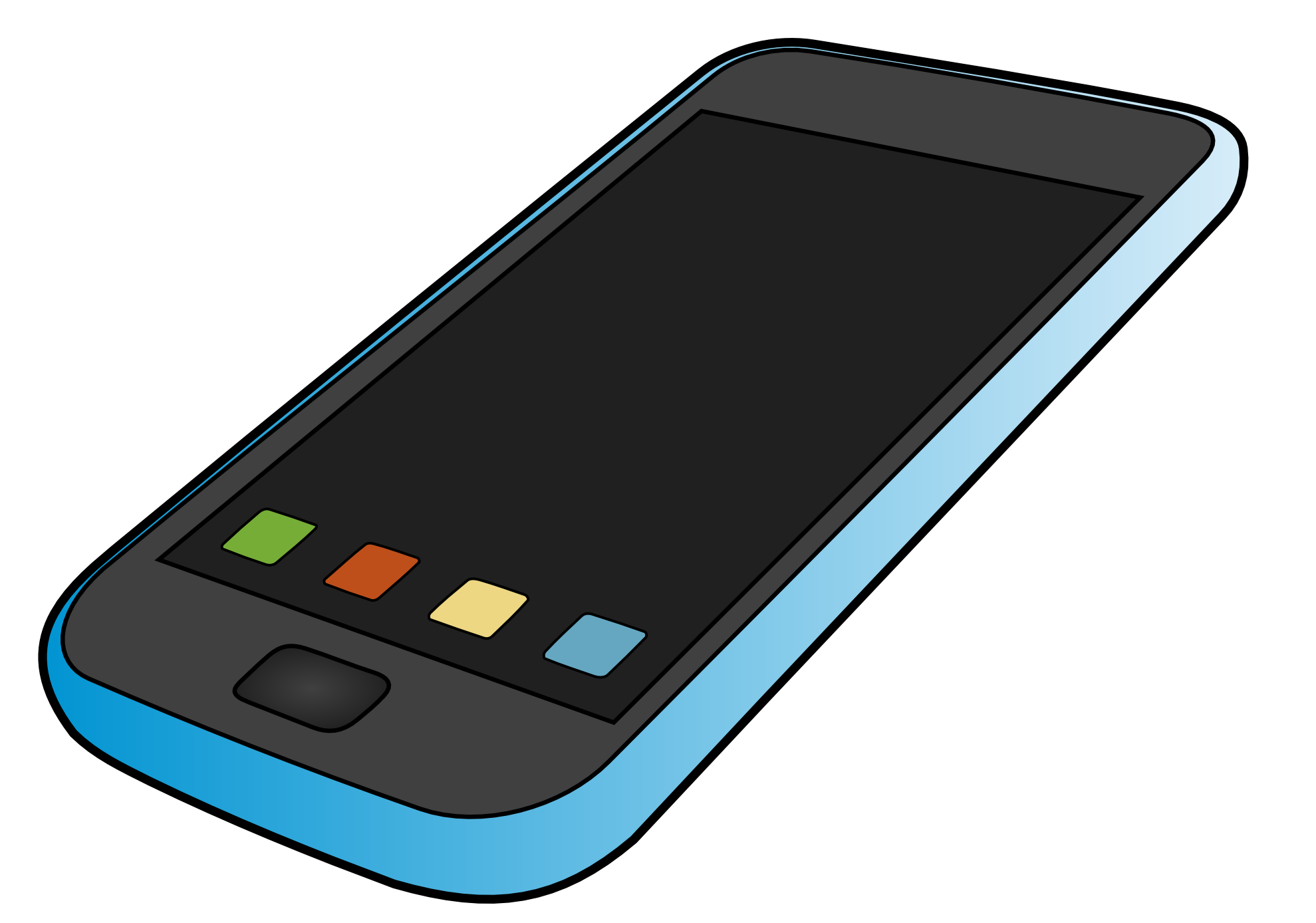 Iphone cell phone clipart free .
