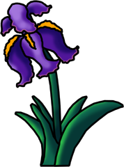 Iris Flower Clipart-Iris Flower Clipart-5