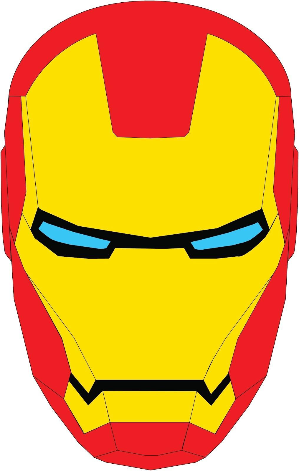 Iron Man Mask Logo Clipart