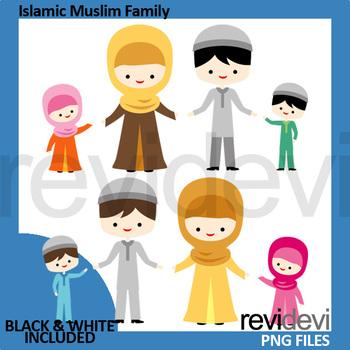 Islamic Muslim Family Clip ar - Islam Clipart
