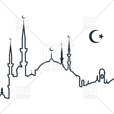 Silhouette Of Arabic City With Mosque - -Silhouette of arabic city with mosque - symbols of Islam, 124179, download  royalty- ClipartLook.com -13