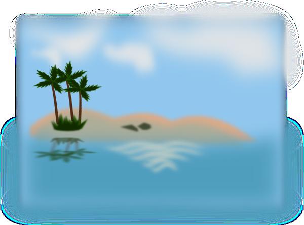 Island In The Ocean Clip Art At Clker Com Vector Clip Art Online