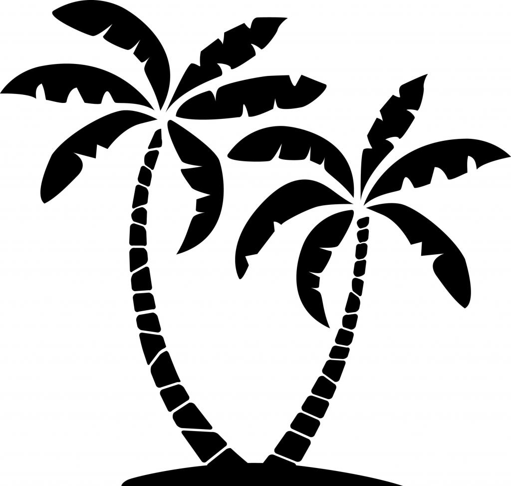 Island with palm trees clipart .