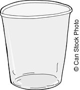 ... Isolated Empty Plastic Cup - One emp-... Isolated Empty Plastic Cup - One empty plastic cup over.-12