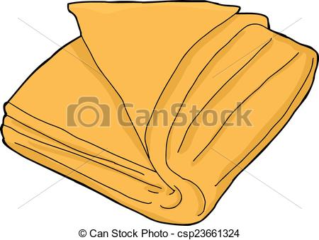 Isolated Orange Towel - Single orange fo-Isolated Orange Towel - Single orange folded towel cartoon.-17