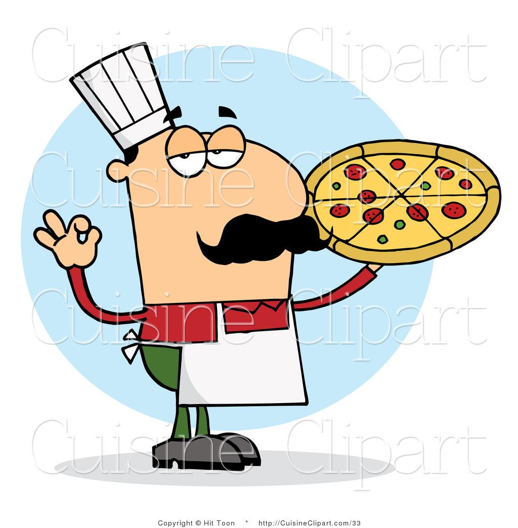 Italian Clipart Cuisine Vector Clipart O-Italian Clipart Cuisine Vector Clipart Of A Pleased Italian Pizza Chef-5