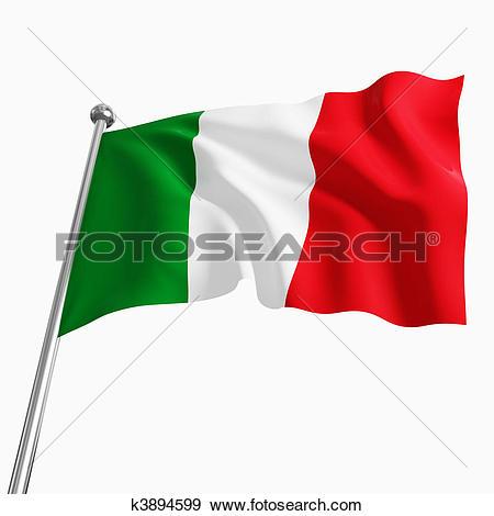 italian flag - Italian Flag Clip Art