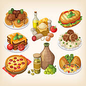 italian food background; italian food wine ...