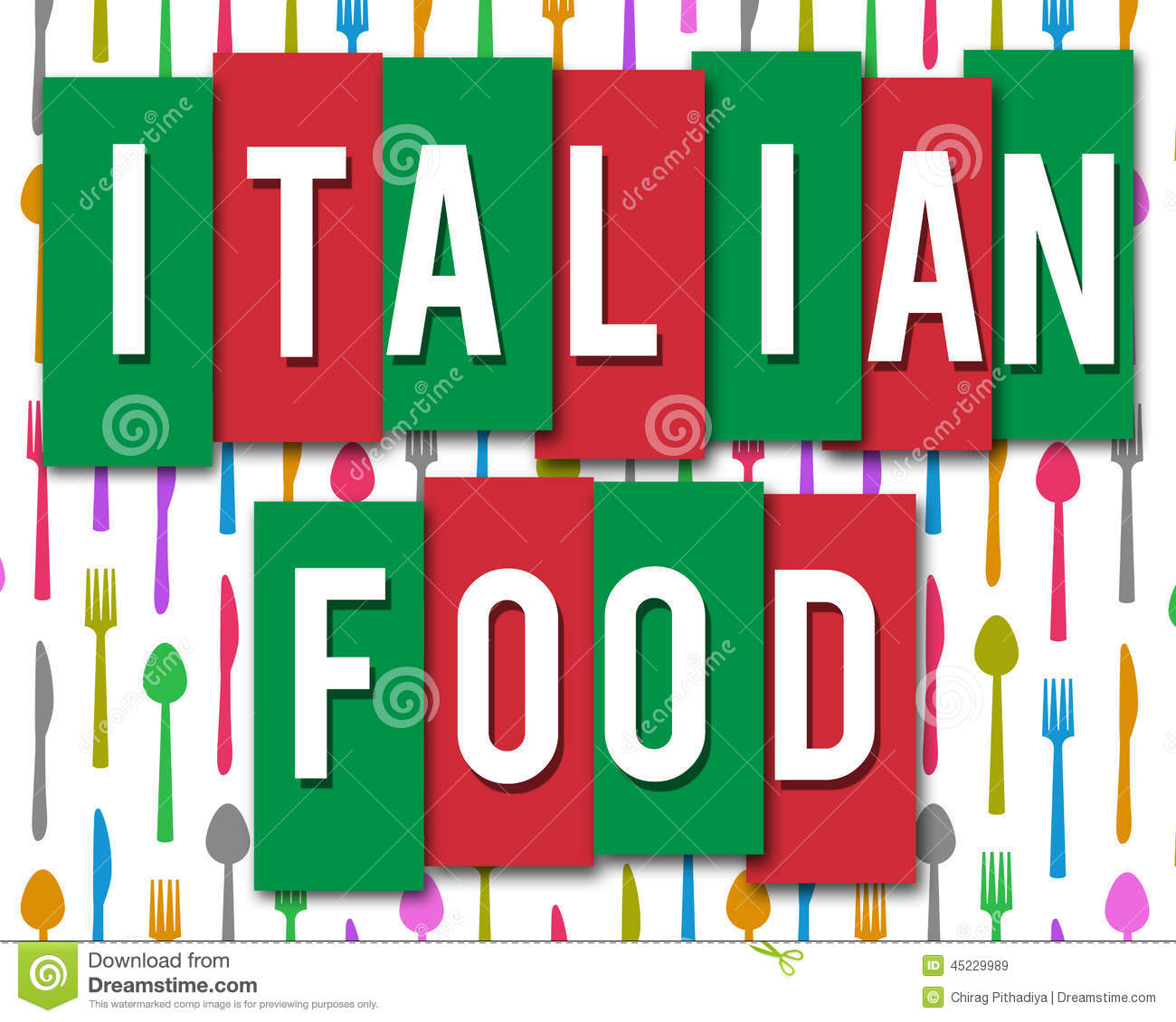 Italian Food - Italian Food Clip Art