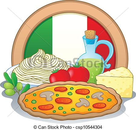 ... Italian food theme image 1 - vector illustration.