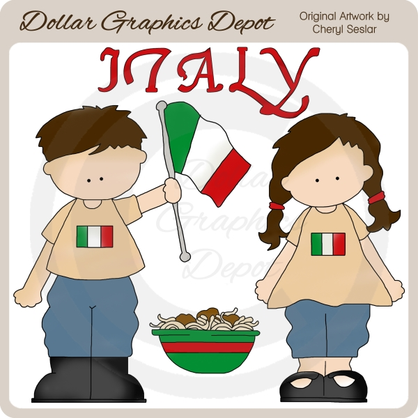 Italian Kids - Clip Art-Italian Kids - Clip Art-8