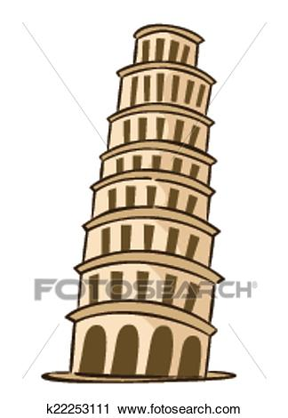 Clipart - Pisa Italy. Fotosearch - Search Clip Art, Illustration Murals,  Drawings and