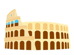 Colliseum, Rome, Italy Clip Art