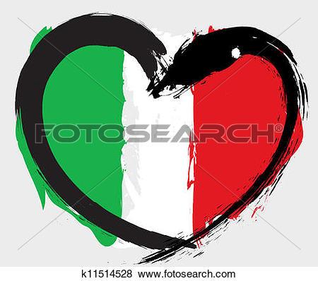 Italy Grunge Flag-Italy grunge flag-15