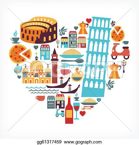 Italy grunge flag u0026middot; Italy lov-Italy grunge flag u0026middot; Italy love - heart shape with vector icons-12