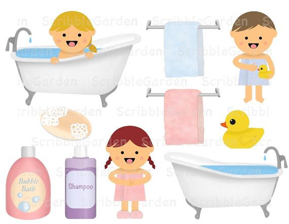 Items similar to Bath Time Learning Hygiene ClipArt on Etsy