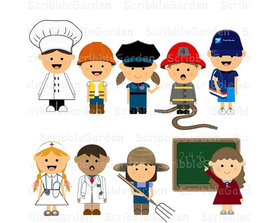Items Similar To Community Helpers Digit-Items Similar To Community Helpers Digital Clipart On Etsy-18