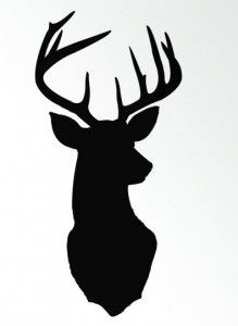 Items similar to Deer Head Print Silhouette - Color on White Background - Deer Oh Deer - inch Stag Antlers Fine Art on Etsy