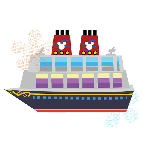 Items Similar To Disney Cruise Ship Digital Clip Art Personal And