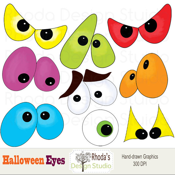 Items Similar To Halloween Di - Spooky Eyes Clip Art