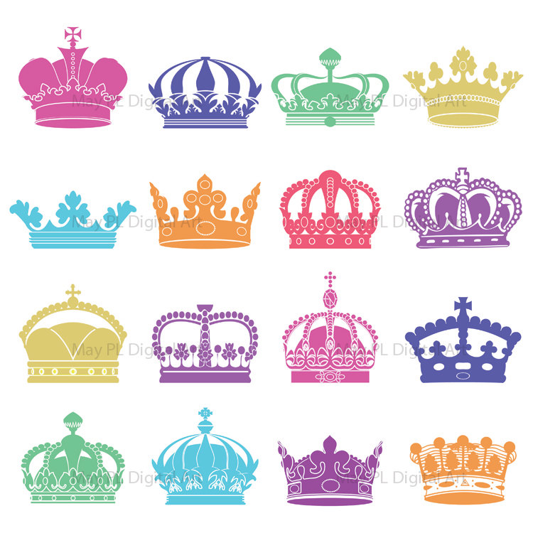 Items Similar To Silhouette Clip Art Cro-Items Similar To Silhouette Clip Art Crowns Digital Crown Clipart-10
