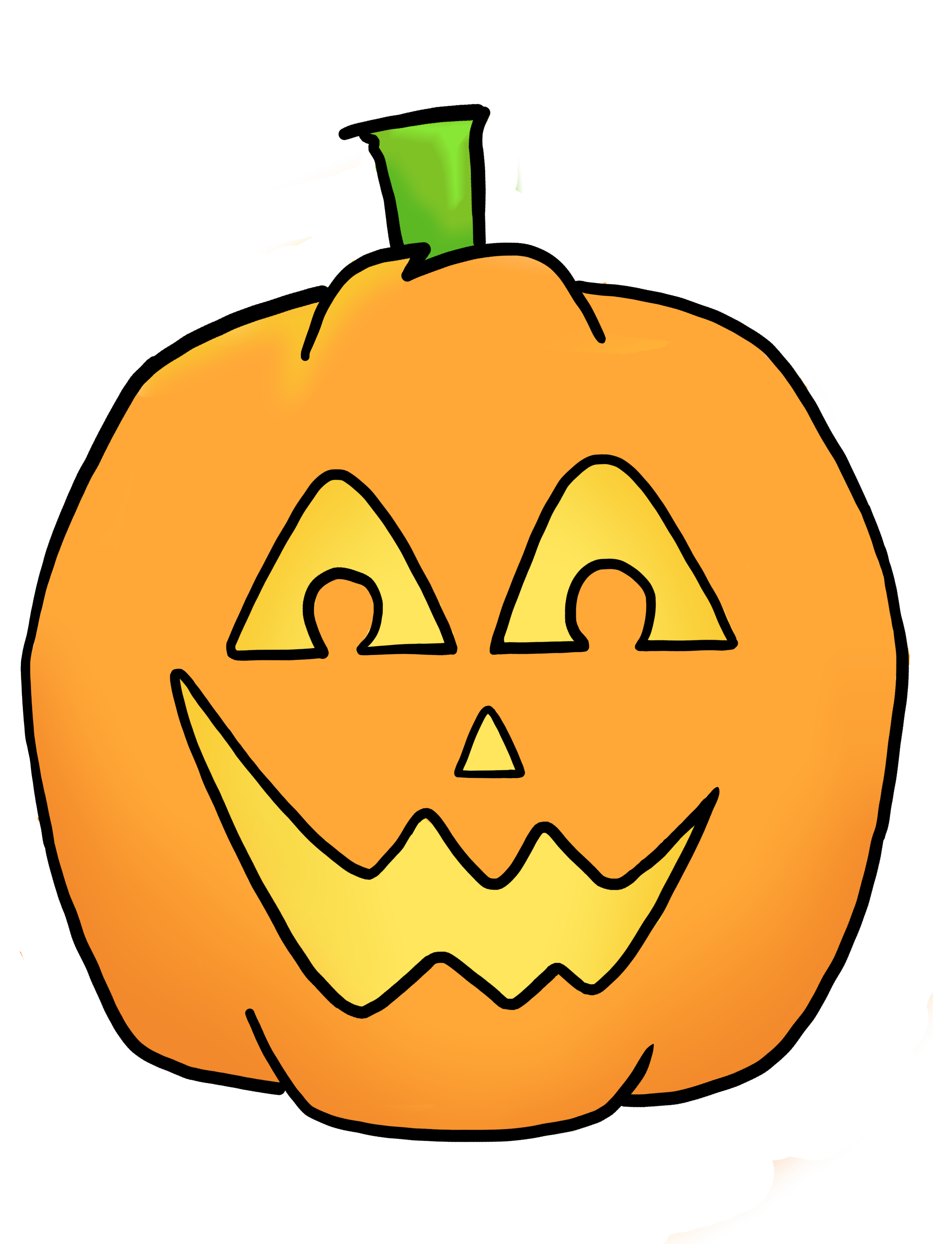 Jack O Lantern Clipart Black And White Happy Jack O Lantern Clipart