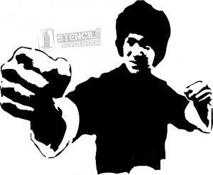 Jackie Chan Stencil