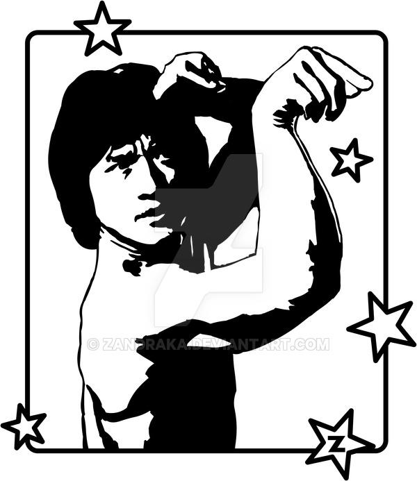 Jackie Chan - T-shirt graphics by Zandraka ClipartLook.com