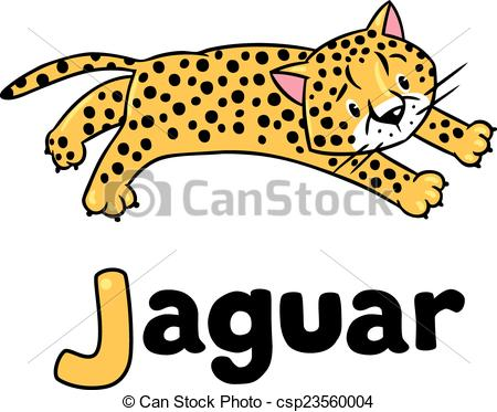 Little cheetah or jaguar for ABC - csp23560004