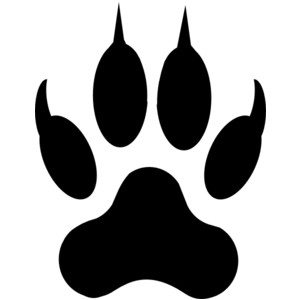 jaguar paw prints clip art .