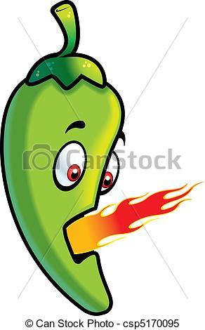 ... Jalapeno Fire - A Cartoon Green Jala-... Jalapeno Fire - A cartoon green jalapeno breathing fire.-9