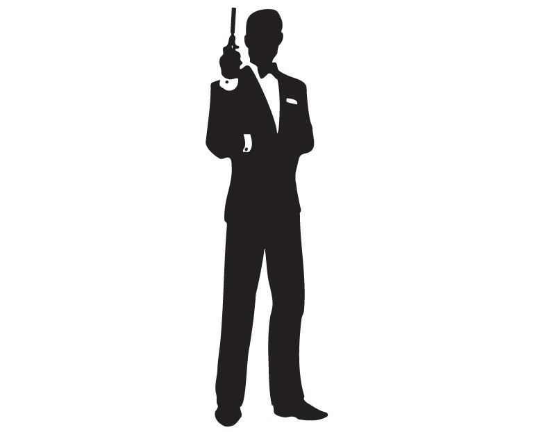 Bond Clipart: James Bond Silhouette Clip-Bond clipart: James Bond Silhouette Clipart-7