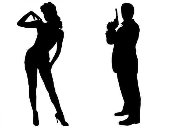 Bond Clipart: James Bond Silhouettes - D-Bond clipart: James Bond Silhouettes - DIY-8