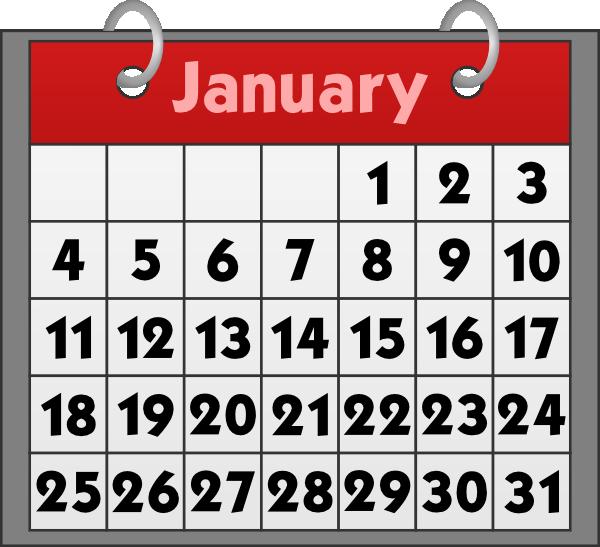 january calendar clipart .
