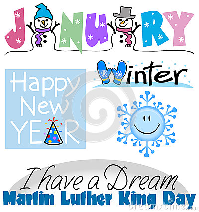 January events including . - January Images Clipart