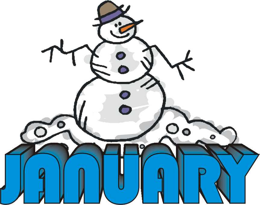 January month clipart free cl - January Images Clipart