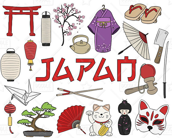 Japan Clipart Vector Pack, Japanese Doodles, Asia Clipart, Japanese  Vectors, Japan Graphics, Japanese Stickers, SVG, PNG file
