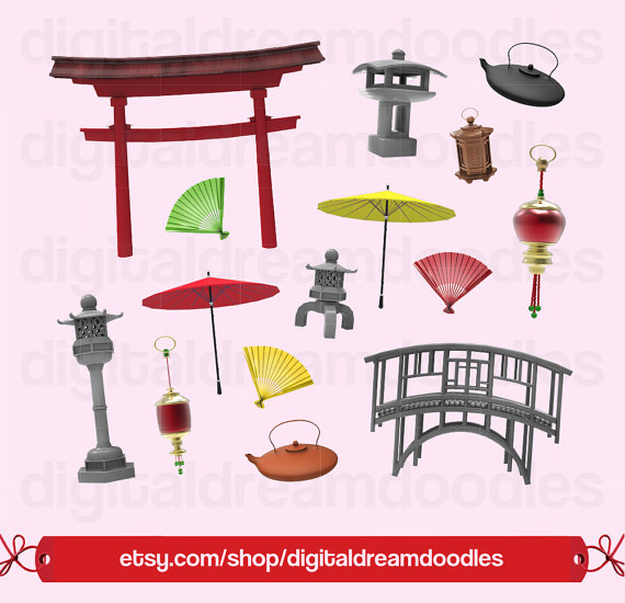 Japanese Clipart, Japan Gate Clip Art, Pagoda Clipart, Stone Bridge Image,  Outdoor Asian Graphic, Sculpture Scrapbooking, Digital Download from ClipartLook.com