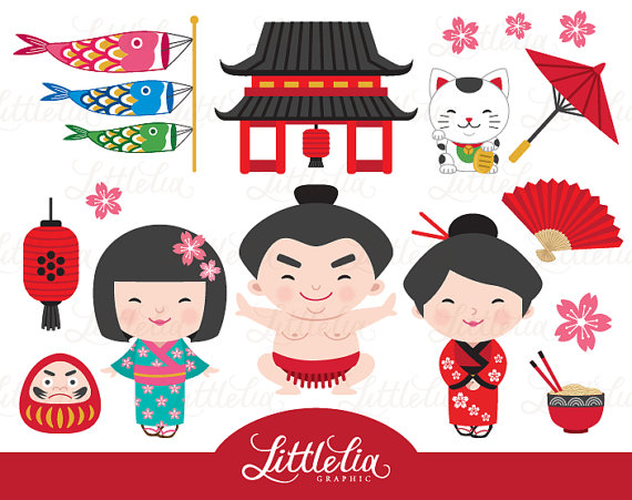 Japanese clipart - kokeshi cl - Japanese Clipart