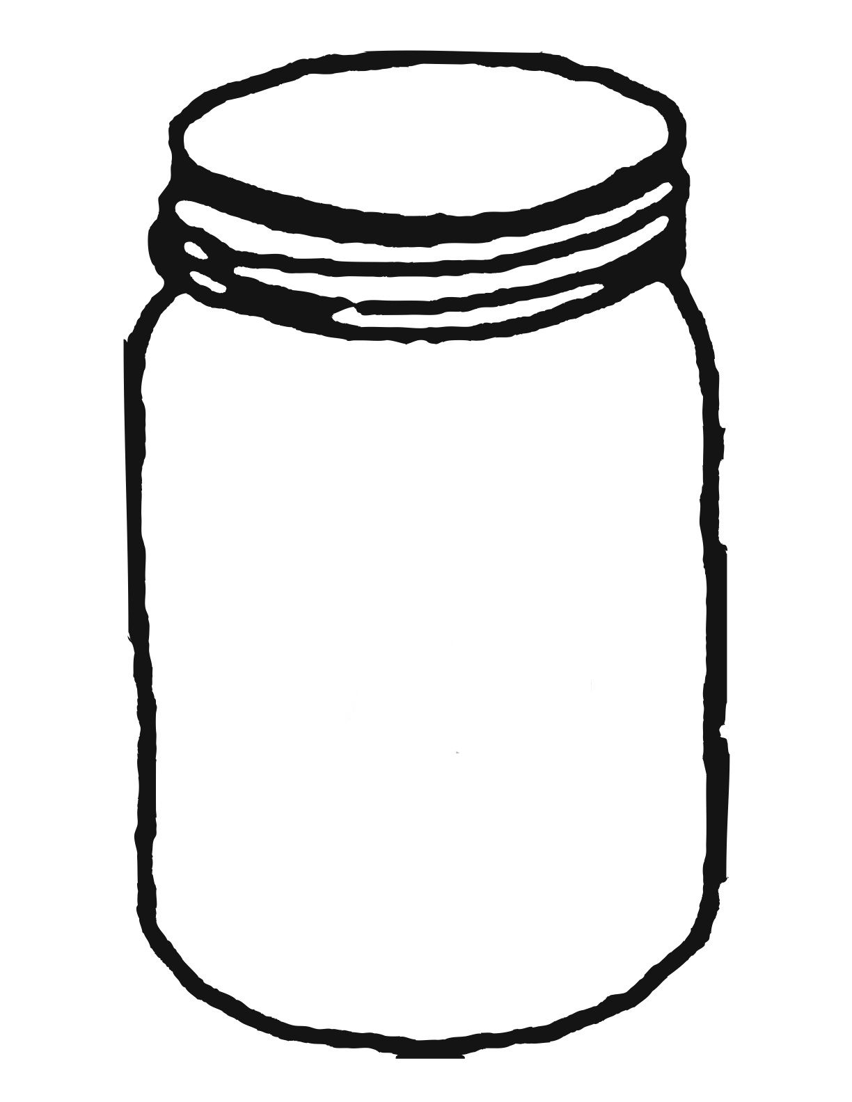 Template for mason jar clipart clipartwiz