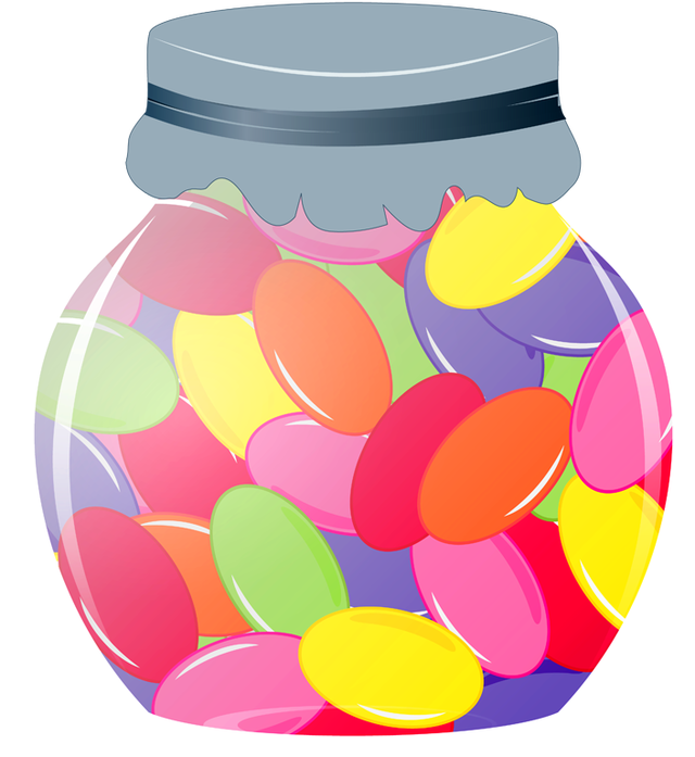 Jar Of Jelly Beans Png Dixie  - Jelly Bean Clipart