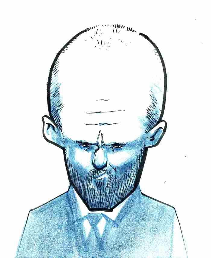 A caricature of Jason Statham by Tielman Cheaney