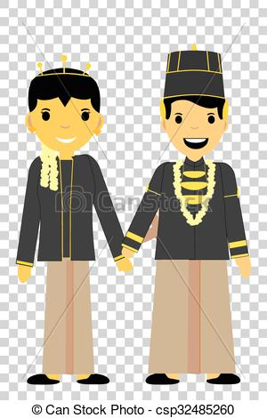 One Bride Couple - Central Ja - Java Clipart