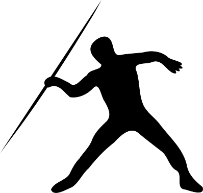 Javelin Throw Silhoette - Track And Field Clipart