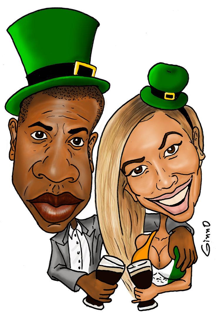 Jay Z And Beyonce St Patricku0027s Day B-jay z and beyonce st patricku0027s day by ClipartLook.com -7