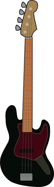 Jazz Bass Guitar clip art