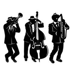 Jazz Silhouettes Clip Art ..-Jazz Silhouettes Clip Art ..-5