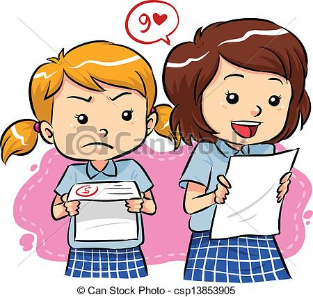 Jealous woman Stock Illustrationby izako-Jealous woman Stock Illustrationby izakowski1/1,010; Exam results - Young girls receive their exam results with.-0