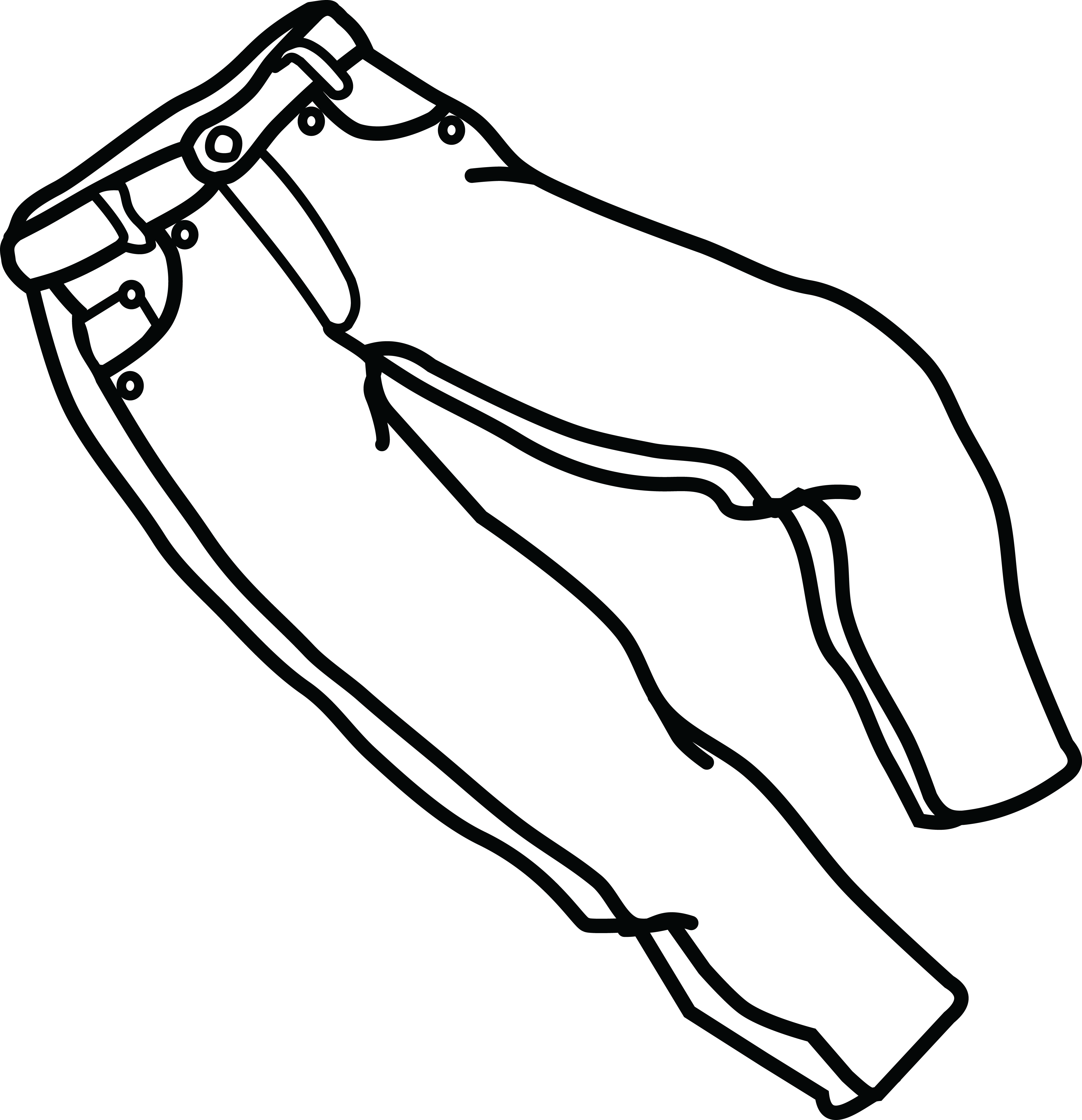 Free Clipart Of A pair of jeans #00011288 .