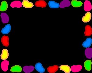 Jelly Bean Background Rainbow - Jelly Bean Clipart